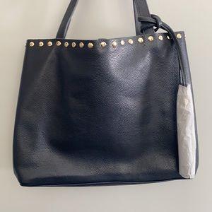 LAGGO Navy Pebble Leather Satchel NWT